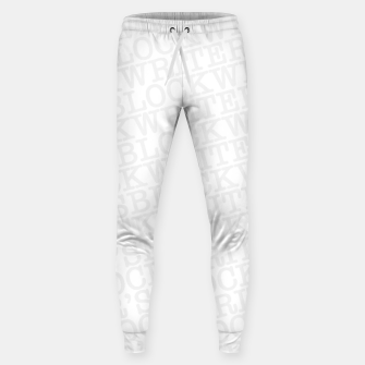 Thumbnail image of Writer's Block II Cotton sweatpants, Live Heroes