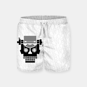 Thumbnail image of Writer's Block II Swim Shorts, Live Heroes