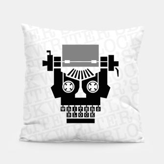Thumbnail image of Writer's Block II Pillow, Live Heroes
