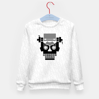 Thumbnail image of Writer's Block II Kid's sweater, Live Heroes