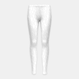 Thumbnail image of Writer's Block II Girl's leggings, Live Heroes