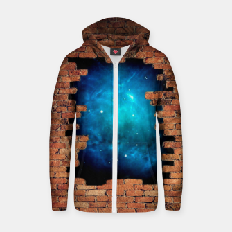 Thumbnail image of Worm Hole Cotton zip up hoodie, Live Heroes