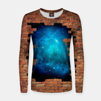 Thumbnail image of Worm Hole Woman cotton sweater, Live Heroes