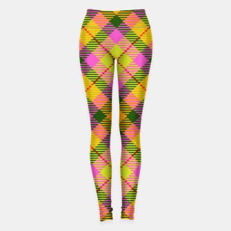 Thumbnail image of Modern Design Classic Plaid Fabric Fresh Leggings, Live Heroes