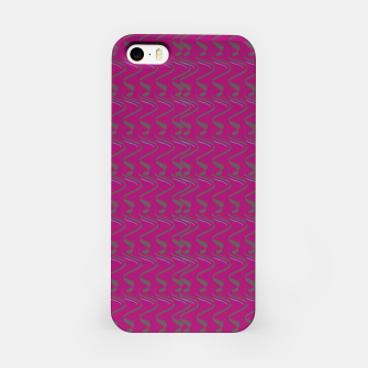 Thumbnail image of iPhone case, pink waves abstract, Live Heroes