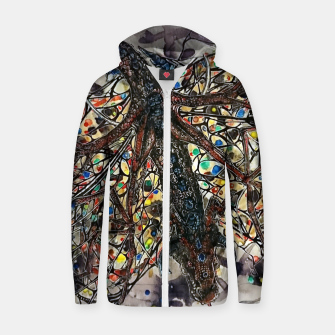 Thumbnail image of Butterfly dragon Cotton zip up hoodie, Live Heroes