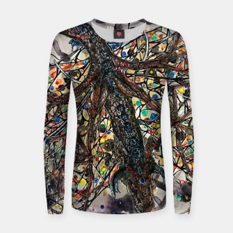Thumbnail image of Butterfly dragon Woman cotton sweater, Live Heroes