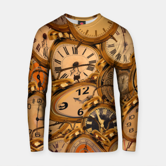 Thumbnail image of Vintage Fancy Clock Cotton sweater, Live Heroes