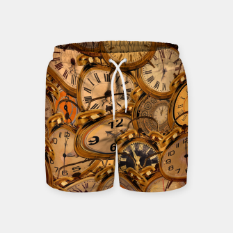 Thumbnail image of Vintage Fancy Clock Swim Shorts, Live Heroes