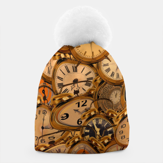 Thumbnail image of Vintage Fancy Clock Beanie, Live Heroes