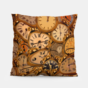 Thumbnail image of Vintage Fancy Clock Pillow, Live Heroes