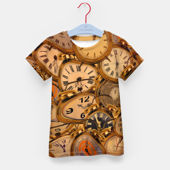 Thumbnail image of Vintage Fancy Clock Kid's t-shirt, Live Heroes