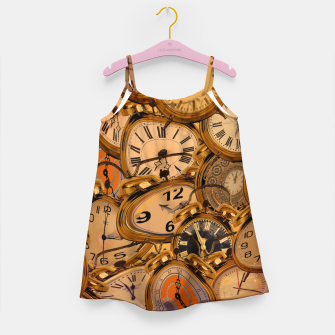 Thumbnail image of Vintage Fancy Clock Girl's dress, Live Heroes
