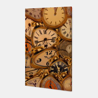 Thumbnail image of Vintage Fancy Clock Canvas, Live Heroes