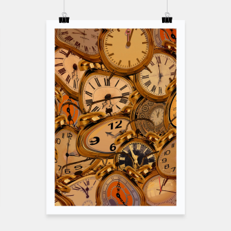 Thumbnail image of Vintage Fancy Clock Poster, Live Heroes