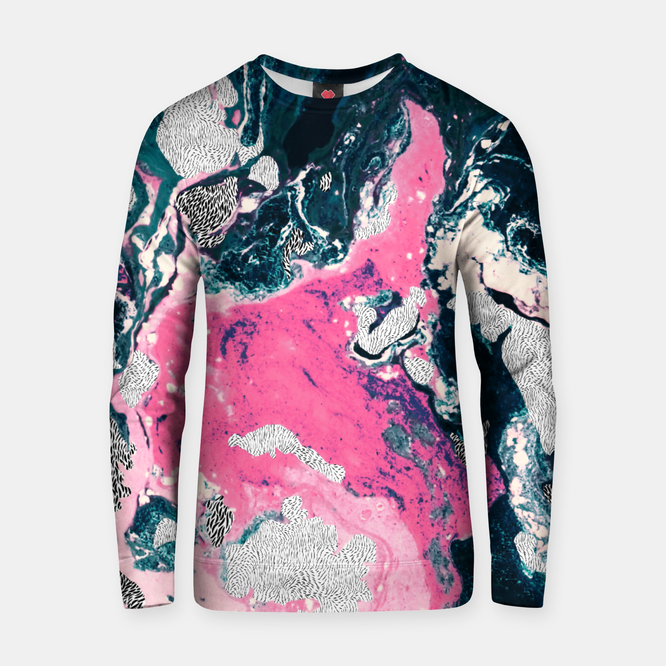 Image of Marble mosaic with patterned patterns 02 Sudadera de algodón - Live Heroes