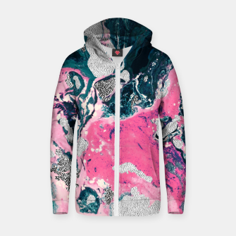 Thumbnail image of Marble mosaic with patterned patterns 02 Sudadera con capucha y cremallera de algodón , Live Heroes