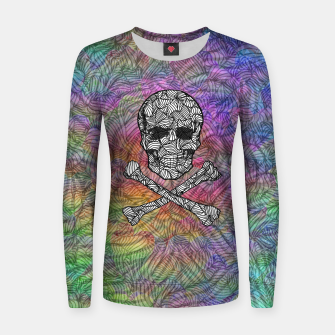 Thumbnail image of skullandbones Woman cotton sweater, Live Heroes