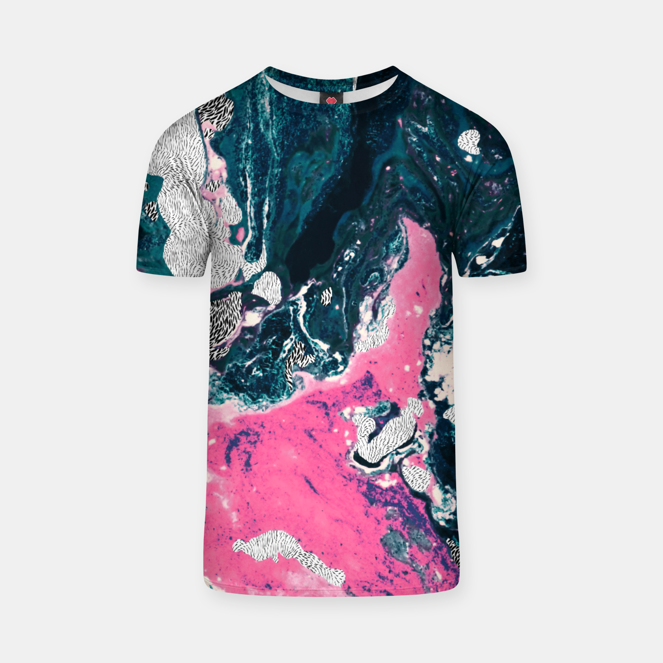 Image of Marble mosaic with patterned patterns 02 Camiseta - Live Heroes