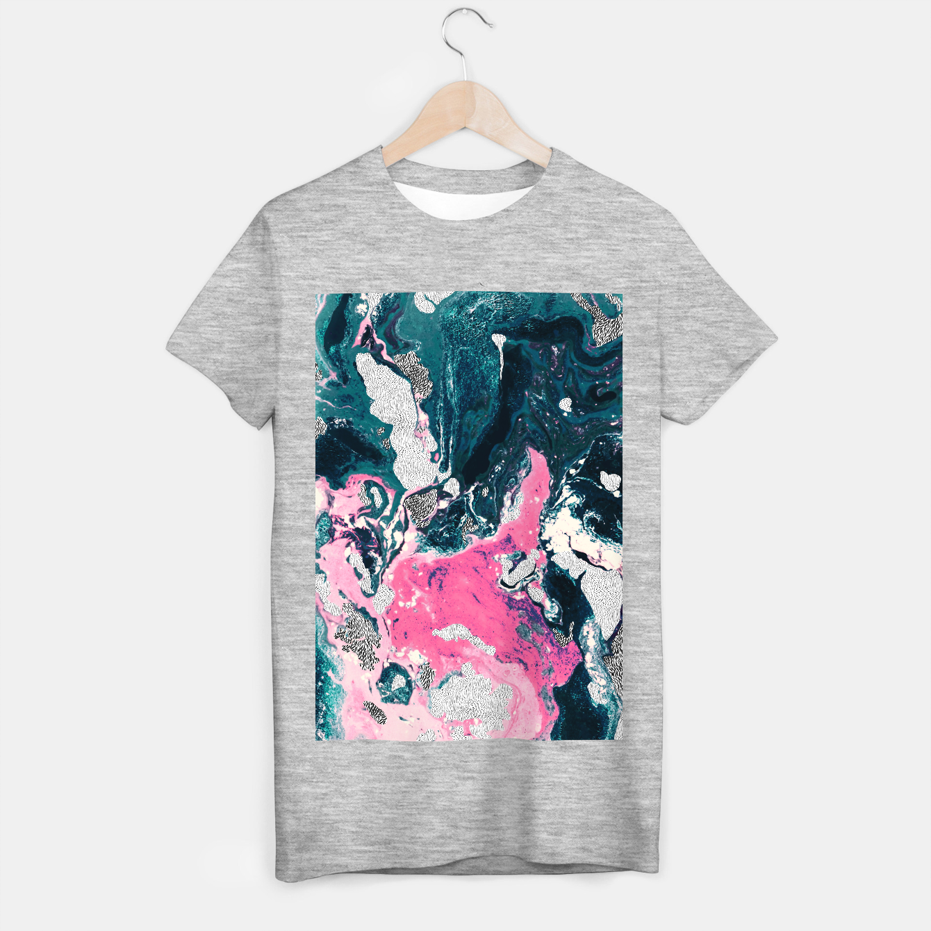 Image of Marble mosaic with patterned patterns 02 Camiseta Regular - Live Heroes