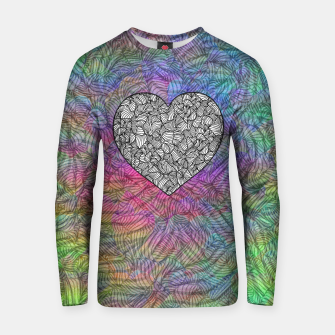 Thumbnail image of heart Cotton sweater, Live Heroes