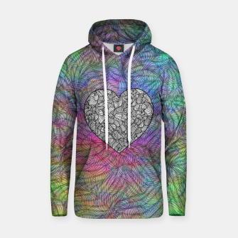 Thumbnail image of heart Cotton hoodie, Live Heroes