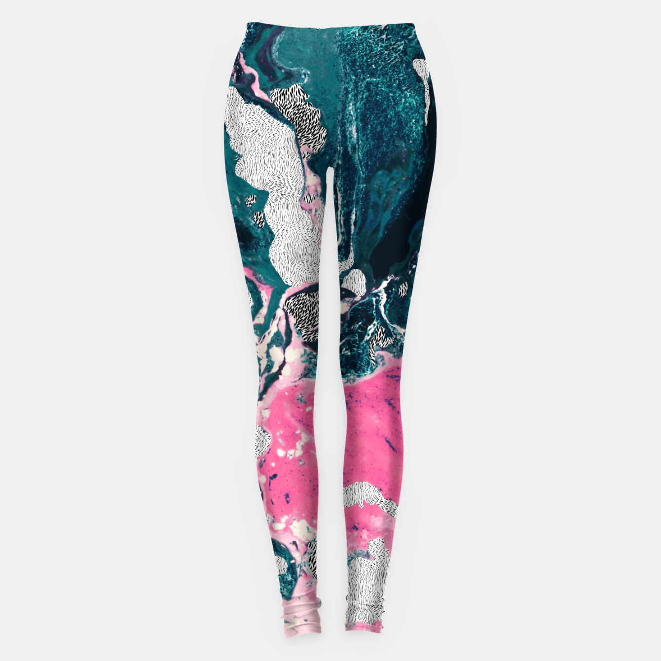 Image of Marble mosaic with patterned patterns 02 Leggings - Live Heroes