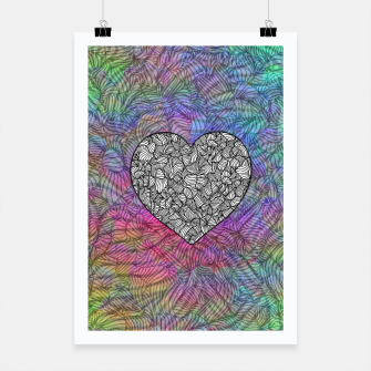 Thumbnail image of heart Poster, Live Heroes