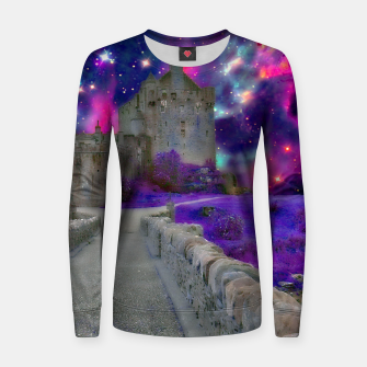 Miniaturka Space Castle Woman cotton sweater, Live Heroes