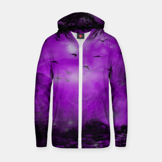 Miniaturka The Purple Forest Cotton zip up hoodie, Live Heroes