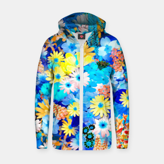 Miniaturka Floral dream Cotton zip up hoodie, Live Heroes