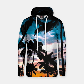 Miniaturka Palm trees summer dream Cotton hoodie, Live Heroes