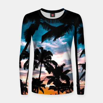 Miniaturka Palm trees summer dream Woman cotton sweater, Live Heroes