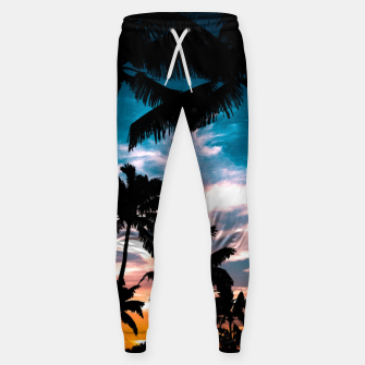 Miniaturka Palm trees summer dream Cotton sweatpants, Live Heroes