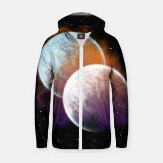 Miniaturka Together Forever Planets Cotton zip up hoodie, Live Heroes