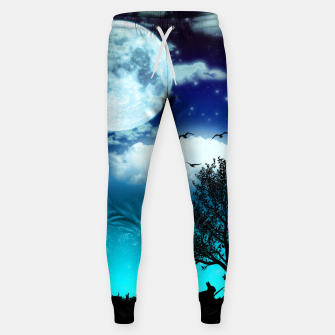 Miniaturka Dreamy night into the forest Cotton sweatpants, Live Heroes