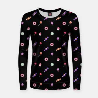 Miniatur Candies and sweets  Woman cotton sweater, Live Heroes