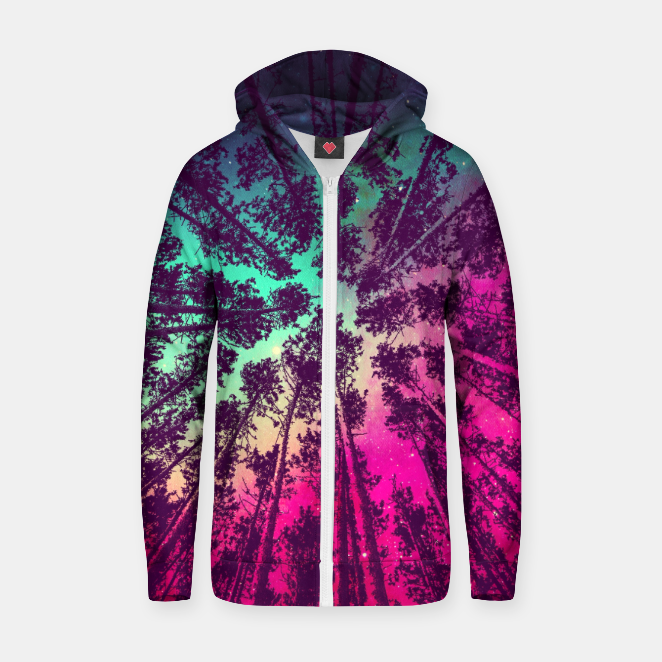 Zdjęcie Just a stargazer Cotton zip up hoodie - Live Heroes