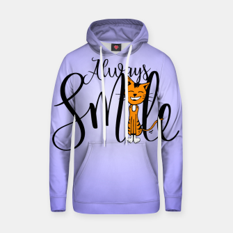 Always smile Cotton hoodie obraz miniatury
