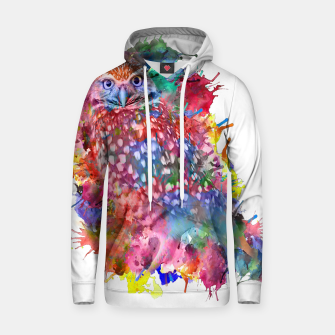 Thumbnail image of Rainbow owl Cotton hoodie, Live Heroes