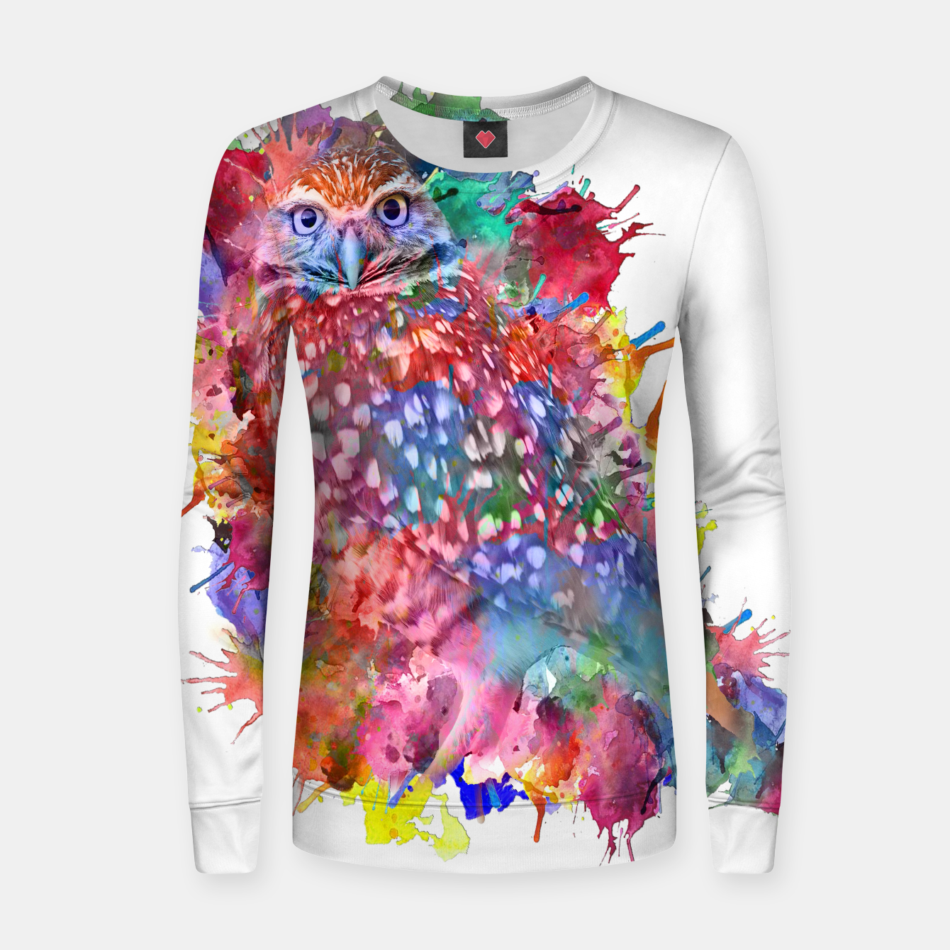 Zdjęcie Rainbow owl Woman cotton sweater - Live Heroes