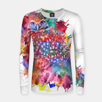 Miniaturka Rainbow owl Woman cotton sweater, Live Heroes