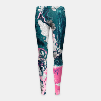 Marble mosaic with patterned patterns 02 Leggings para niña thumbnail image