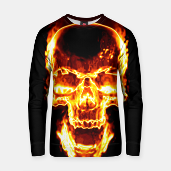 Thumbnail image of Fire Skull Cotton sweater, Live Heroes