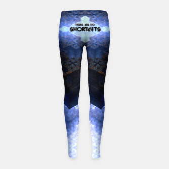 Thumbnail image of There Are No Shortcuts Girl's leggings, Live Heroes