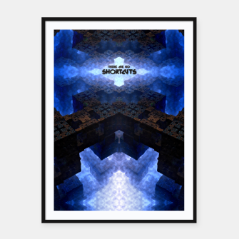 Thumbnail image of There Are No Shortcuts Framed poster, Live Heroes