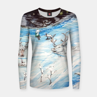 Thumbnail image of Finland Funland 1 Woman cotton sweater, Live Heroes