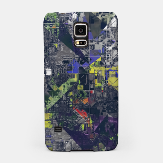 Thumbnail image of psychedelic geometric triangle polygon pattern abstract in blue yellow black Samsung Case, Live Heroes