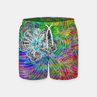 Thumbnail image of flower Swim Shorts, Live Heroes
