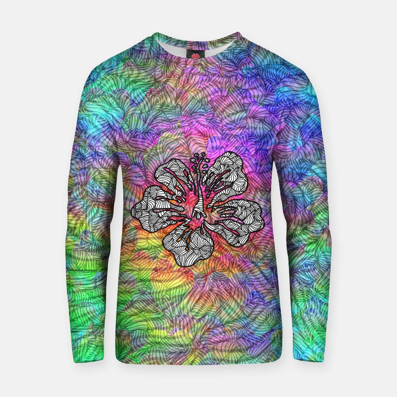 Image of flower Cotton sweater - Live Heroes